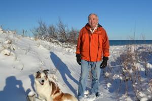 John Wemlinger and his dog