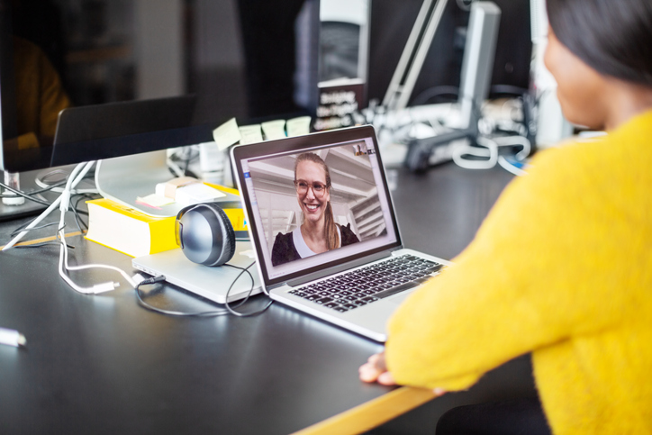 Women on video conference